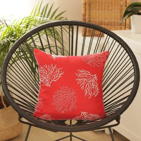 Porch & Den Pebble Beach Red Reef Throw Pillow Cover