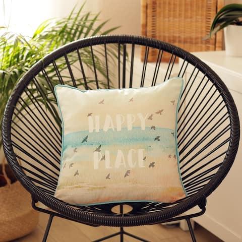 Porch & Den Sandridge Quote-printed Throw Pillow Cover