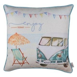 Porch & Den Sandstone Car-printed Throw Pillow Cover