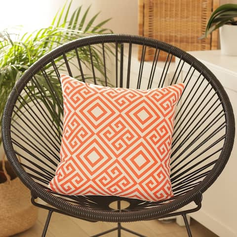 Porch & Den Frontier Orange Geometric Throw Pillow Cover