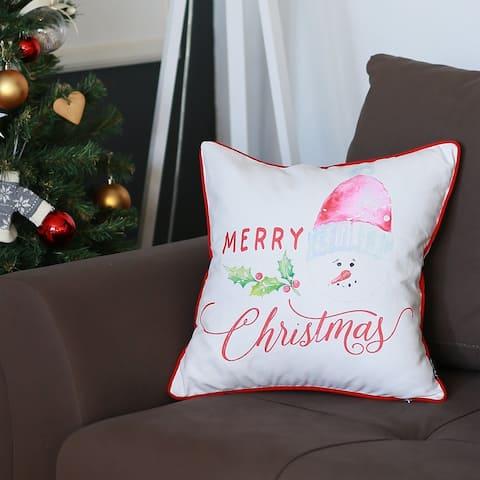 Porch & Den Merry Christmas Throw Pillow Cover