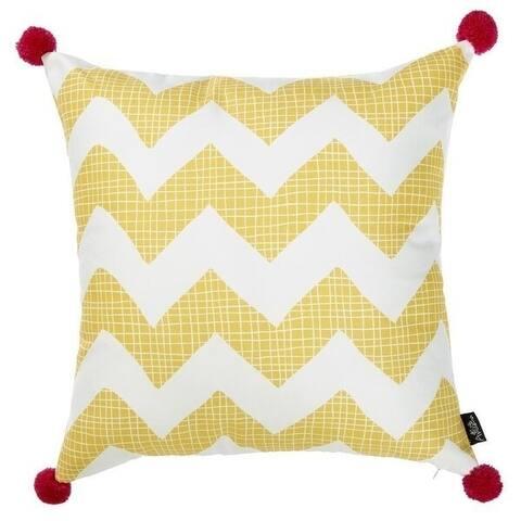 Porch & Den Tupelo Yellow Chevron Throw Pillow Cover