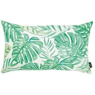 Tropical Monstera Lumbar Decorative Throw Pillow Cover 12''x 20''