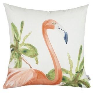 Porch & Den Wallowa Square Flamingo Throw Pillow Cover