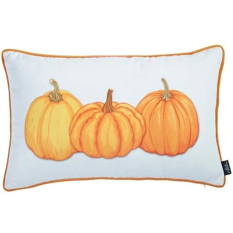 Thanksgiving Lumbar Pumpkins Decorative Throw Pillow Cover 12''x 20''