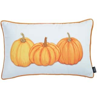 Thanksgiving Lumbar Pumpkins Decorative Throw Pillow Cover 12''x 20''