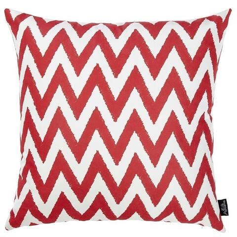 Porch & Den Pinot Red Chevron Throw Pillow Cover