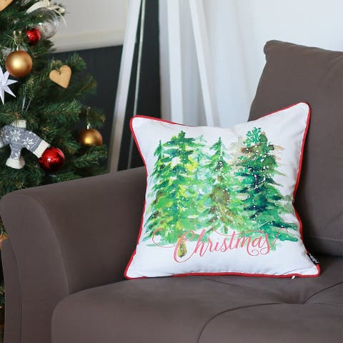 "Christmas Trees Decorative Throw Pillow Cover Christmas Gift 18""x18"""