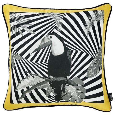 Porch & Den Stratus Geometric Parrot Throw Pillow Cover