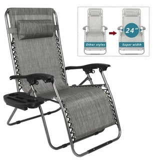Shop Mesh Fabric With Steel Frame Zero Gravity Chair With