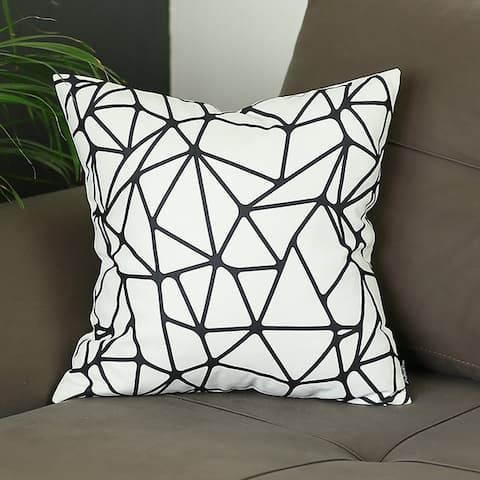 Porch & Den Cathedral Black/ White Geometric Throw Pillow Cover