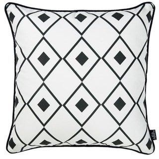 The Curated Nomad Geometric Diamond Printed Throw Pillow Cover