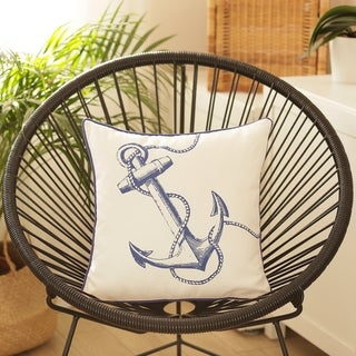 Porch & Den Peninsula Anchor Throw Pillow Cover