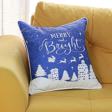 "Christmas Snow Printed Decorative Throw Pillow Cover 18""x18"""