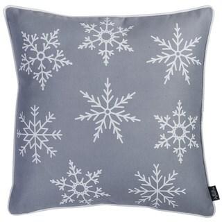 "Christmas Grey Snowflakes Throw Pillow Cover Christmas Gift 18""x18"""