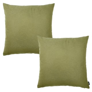 Porch & Den Corby Green Square Throw Pillow Case (Set of 2)