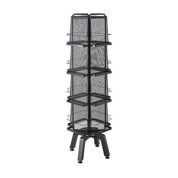 Safco Onyx Rotating 16 Pocket Mesh Magazine Stand - Black. Opens flyout.