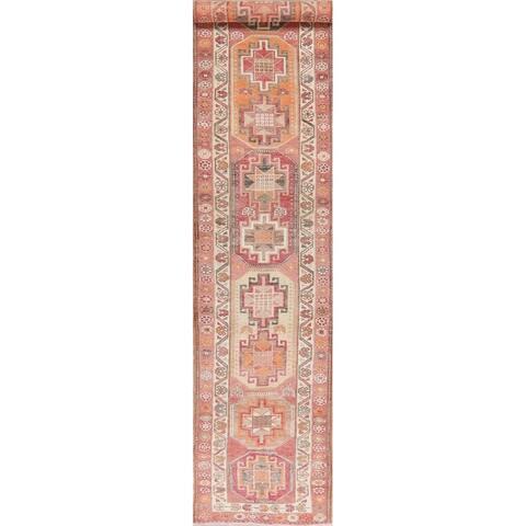 "Oushak Oriental Hand Knotted Wool Turkish Rug - 13'9"" x 2'8"" Runner"
