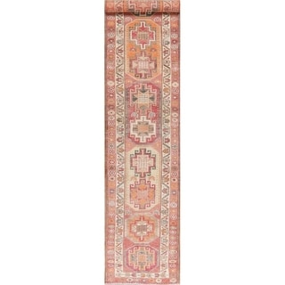 "Oushak Oriental Hand Knotted Wool Turkish Rug - 13'9"" x 2'8"" Runner"