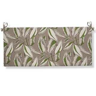 Glasgow Tropical Leaves Flat Bench/Swing Cushion with Ties by Havenside Home