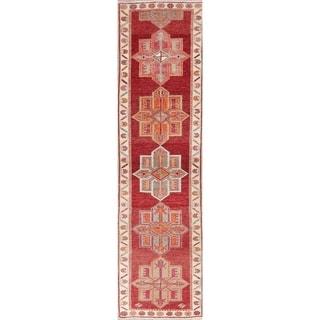 "Oushak Oriental Hand Knotted Wool Turkish Rug - 10'6"" x 2'9"" Runner"