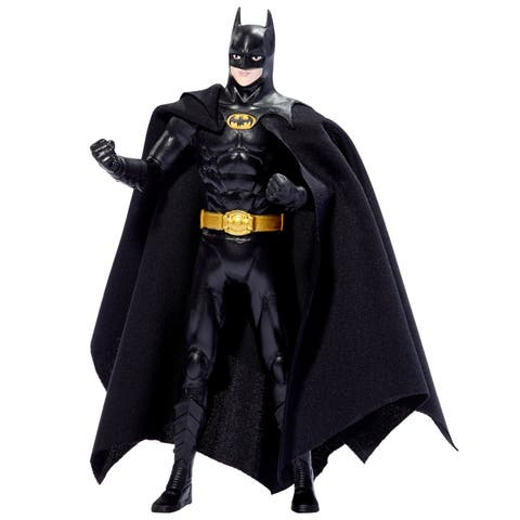 NJ Croce DC Comics Michael Keaton Batman 1989 Movie Bendable Figure (blister card)