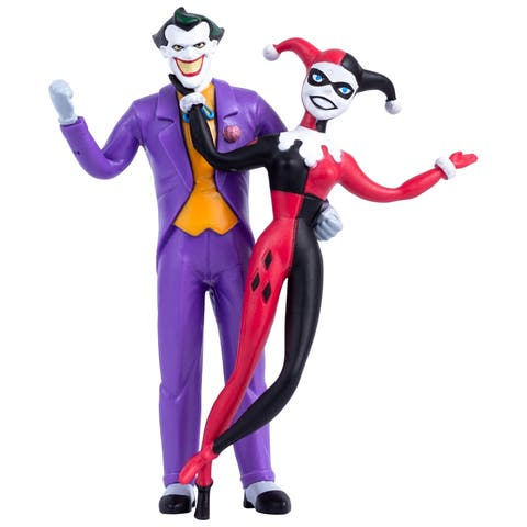 NJ Croce DC Comics The Joker & Harley Quinn Animated Series Bendable Figure Pair (blister card)