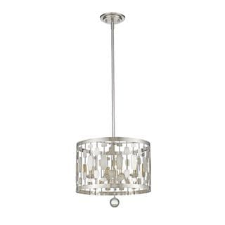 Link to Avery Home Lighting Almet 3-light Pendant in Brushed Nickel (As Is Item) Similar Items in As Is