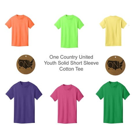 One Country United Youth Unisex Core Solid Short Sleeve Cotton Tee