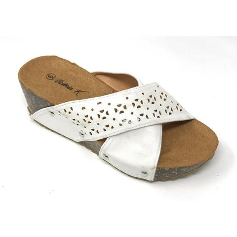 Fashion wedge cork/foot bed slippers Size - 8