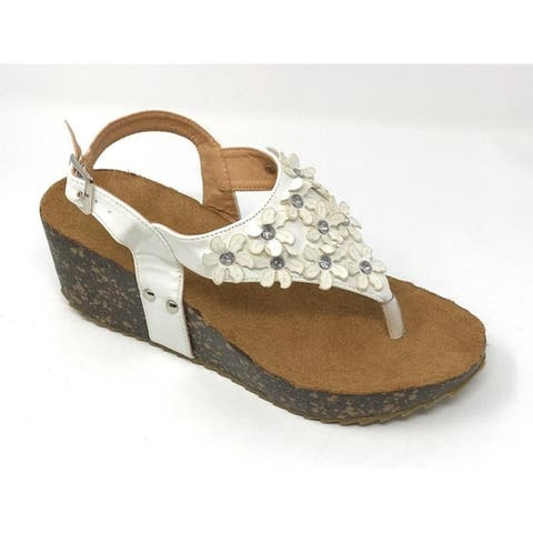 Fashion wedge cork/foot bed slippers Size - 9