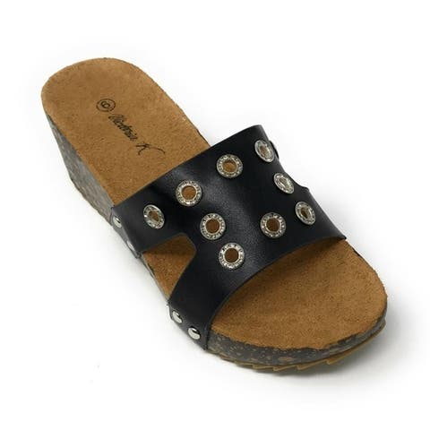 Fashion Wedge Cork/foot Bed Slippers Size - 6 by  Great Reviews