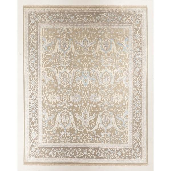 "Hand-knotted Sari Silk Rug - 8'0"" x 10'1"""