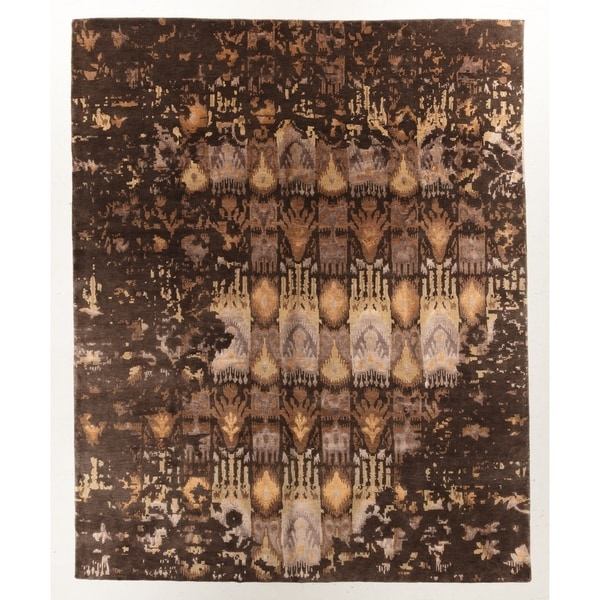 """Hand-knotted Modern Rug - 8'1"""" x 9'11"""""""