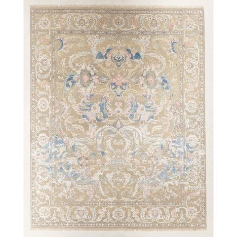 "Hand-knotted Sari Silk Rug - 7'11"" x 10'0"""