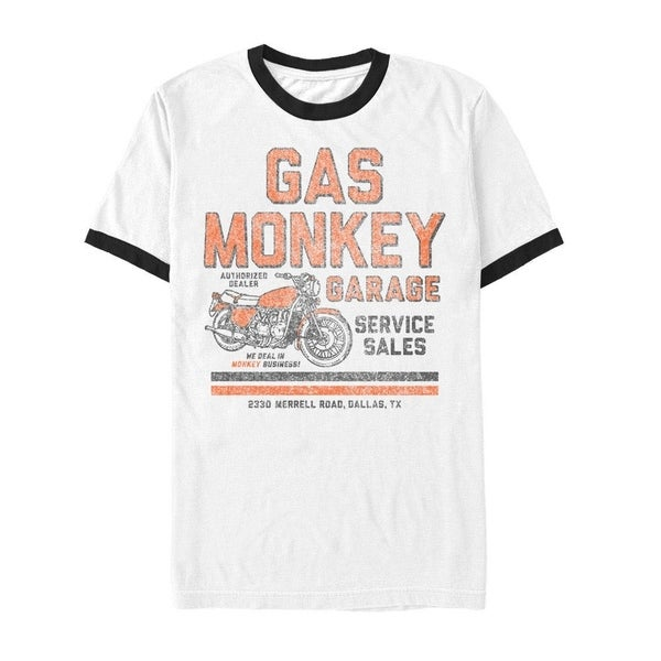 Gas Monkey Authorized Dealer White Tee Shirt