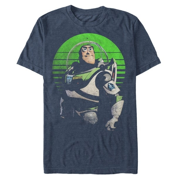 Toy Story Distressed Heather Blue Buzz Lightyear Tee Shirt