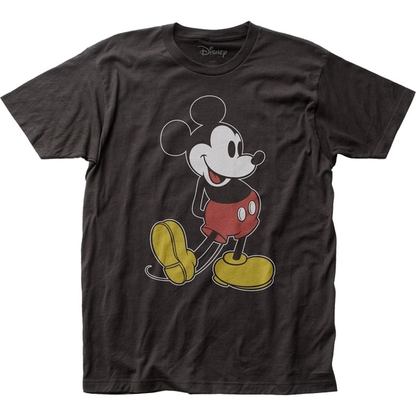 Mickey Mouse Classic Pose Black Tee Shirt