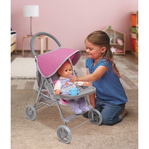 Badger Basket Glide Folding Single Doll Stroller