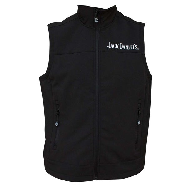 Jack Daniels Softshell Mens Black Vest