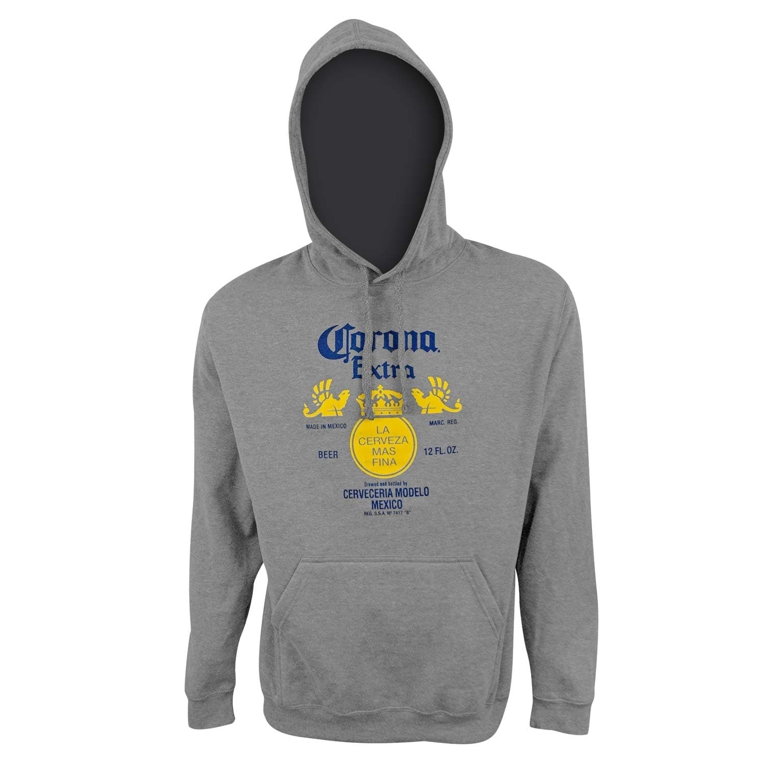 Shop Corona Extra Logo Men S Athletic Gray Hoodie Sweatshirt On Sale Overstock 28536191