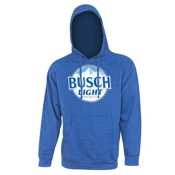 Busch Light Mens Royal Blue Hoodie Sweatshirt