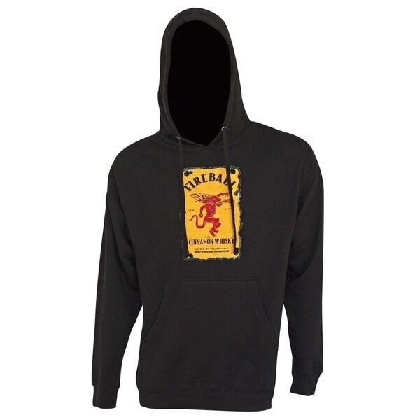 Fireball Bottle Logo Black Hoodie