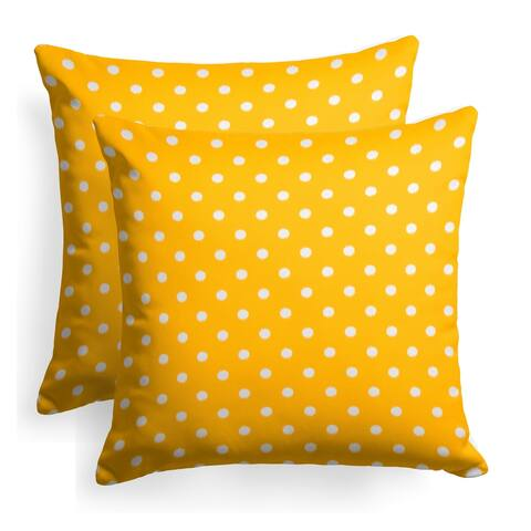 Glasgow Yellow Dots 18-inch Reversible Square Throw Pillow (Set of 2) by Havenside Home