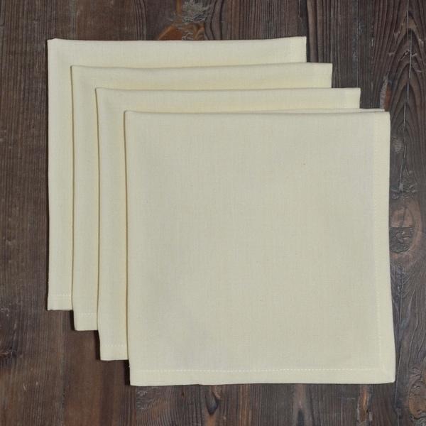 Dunroven House Inc. Solid Color Hemmed Cotton Napkins Set of 4. Opens flyout.
