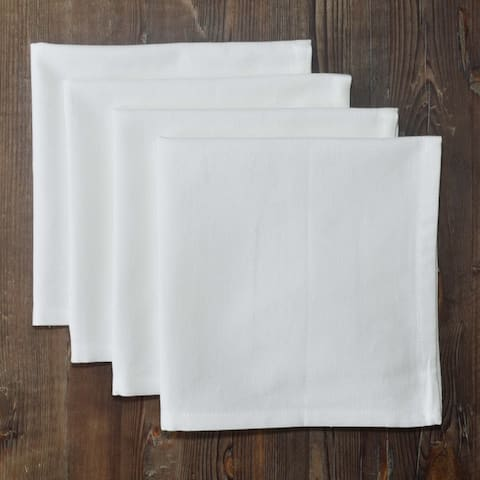 Dunroven House Inc. Solid Color Hemmed Cotton Napkins Set of 4