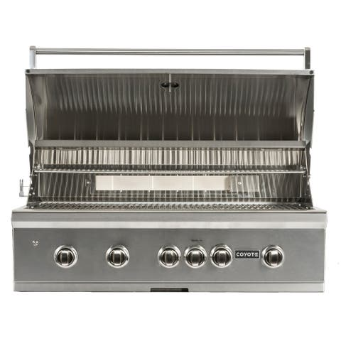 Coyote 42 Inch Grill - LED Lights - Infinity Burners - Ceramic Heat Grids - Natural Gas