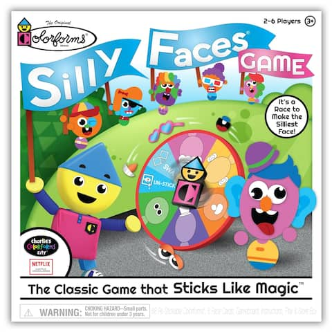 Colorforms Silly Faces Game - The Classic Game that Sticks Like Magic