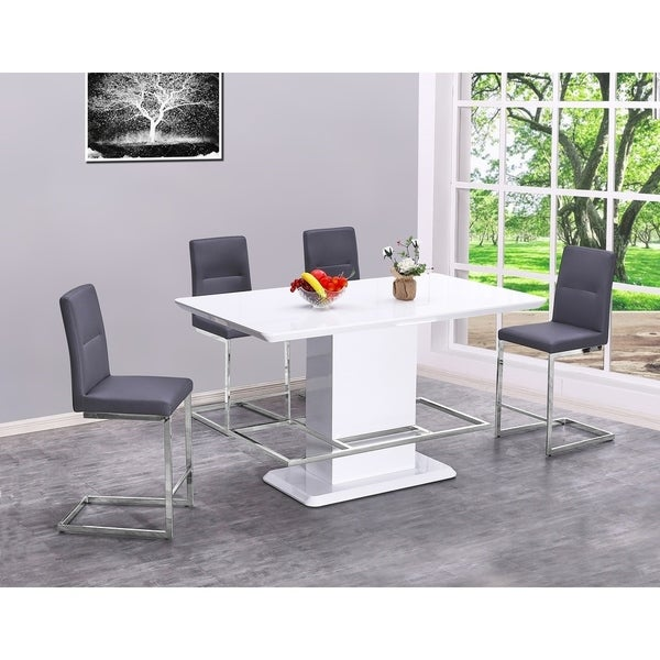 Best Quality Furniture 5-Piece Counter Height Dining Set
