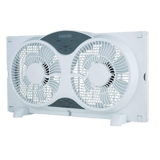 "Climature 9"" Twin Window Fan with Remote Control"